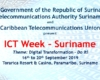 Banner for ICT Week - Suriname
